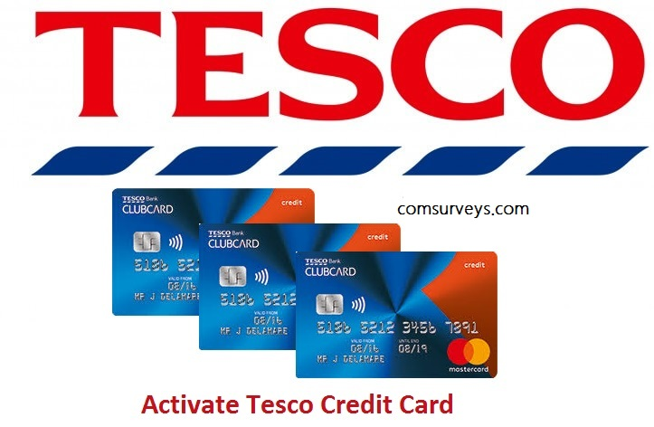 Activation of Tesco Credit card