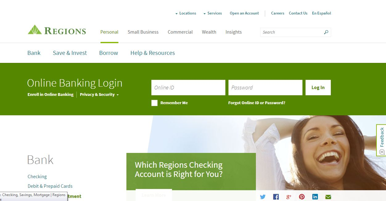 Activate Regions Bank Credit Card