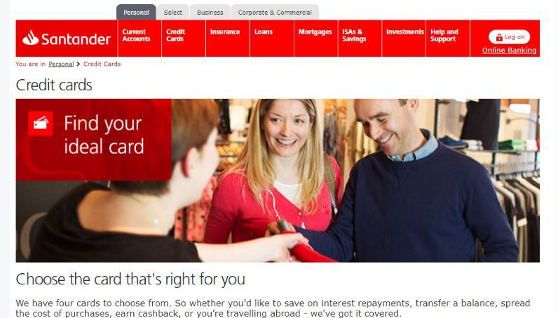 santander credit card activation